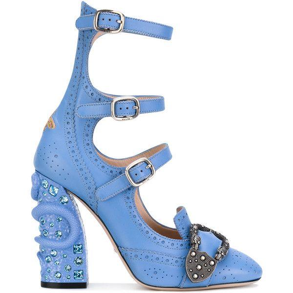 Pompes Gucci Queencore Richelieu - Bleu RMpso8x