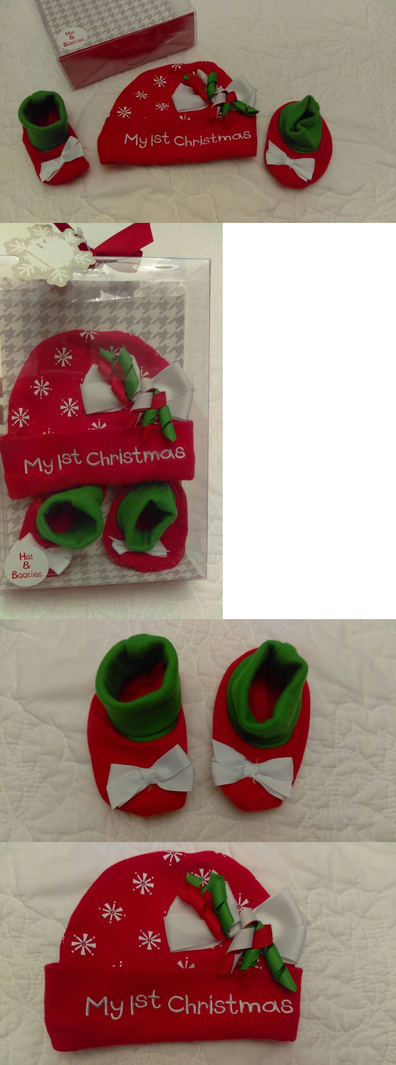 Outfits and Sets 163427  Baby Girl My First Christmas Hat And Booties ~ 0  To 6 Months -  BUY IT NOW ONLY   10.5 on  eBay  outfits  first  christmas   booties ... ac5e0c3a169
