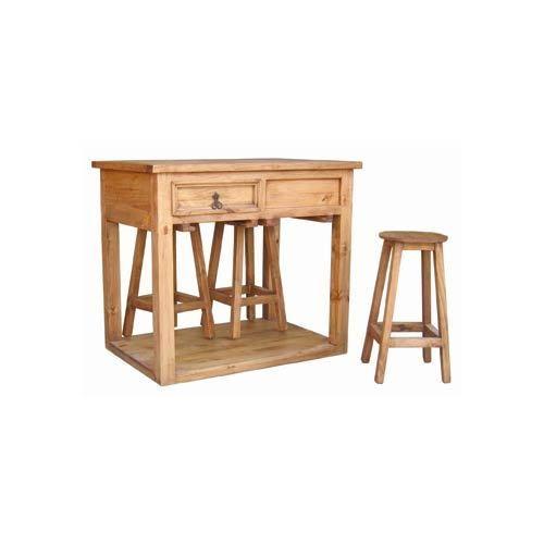 Island W/Stools - Great Western Furniture Company