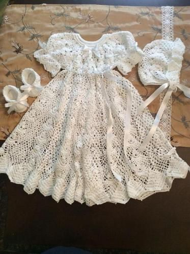b2bf8fa965c1 Heirloom Vintage Style Christening Gown | Crochet | Crochet ...