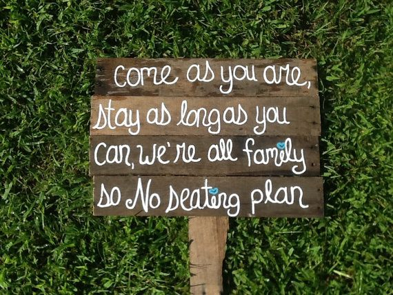 Rustic Wedding Sign Pick A Seat Not Side Shabby Chic Country