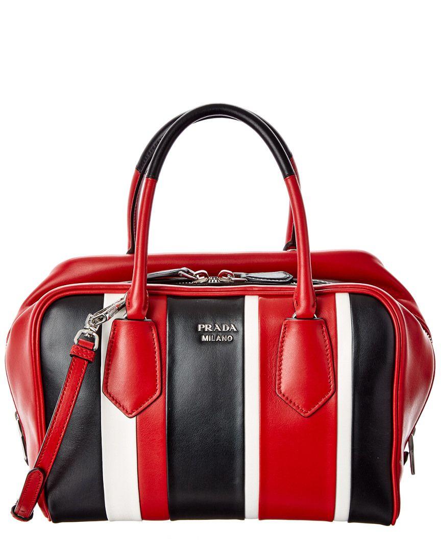 0bb5f75238 Prada Inside Stripe Calf Baiadera Double Handle Bag is on Rue. Shop it now.