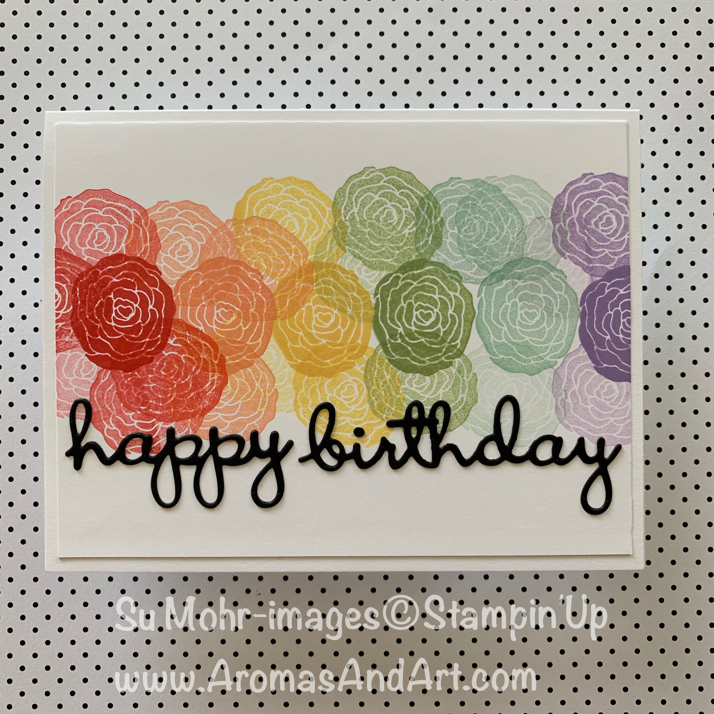 Quick Easy Rainbow Birthday Card With Images Birthday Cards