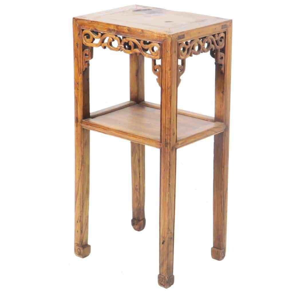 Antique Chinese Small Elm End Tea Table