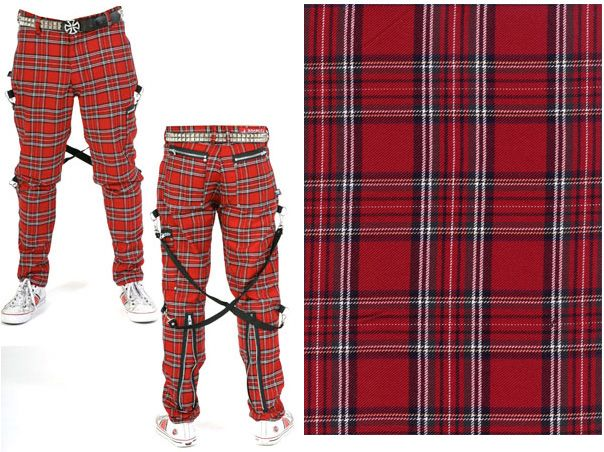 Bondage Pants by Dogpile- RED PLAID | PUNK POST PUNK | Pinterest ...