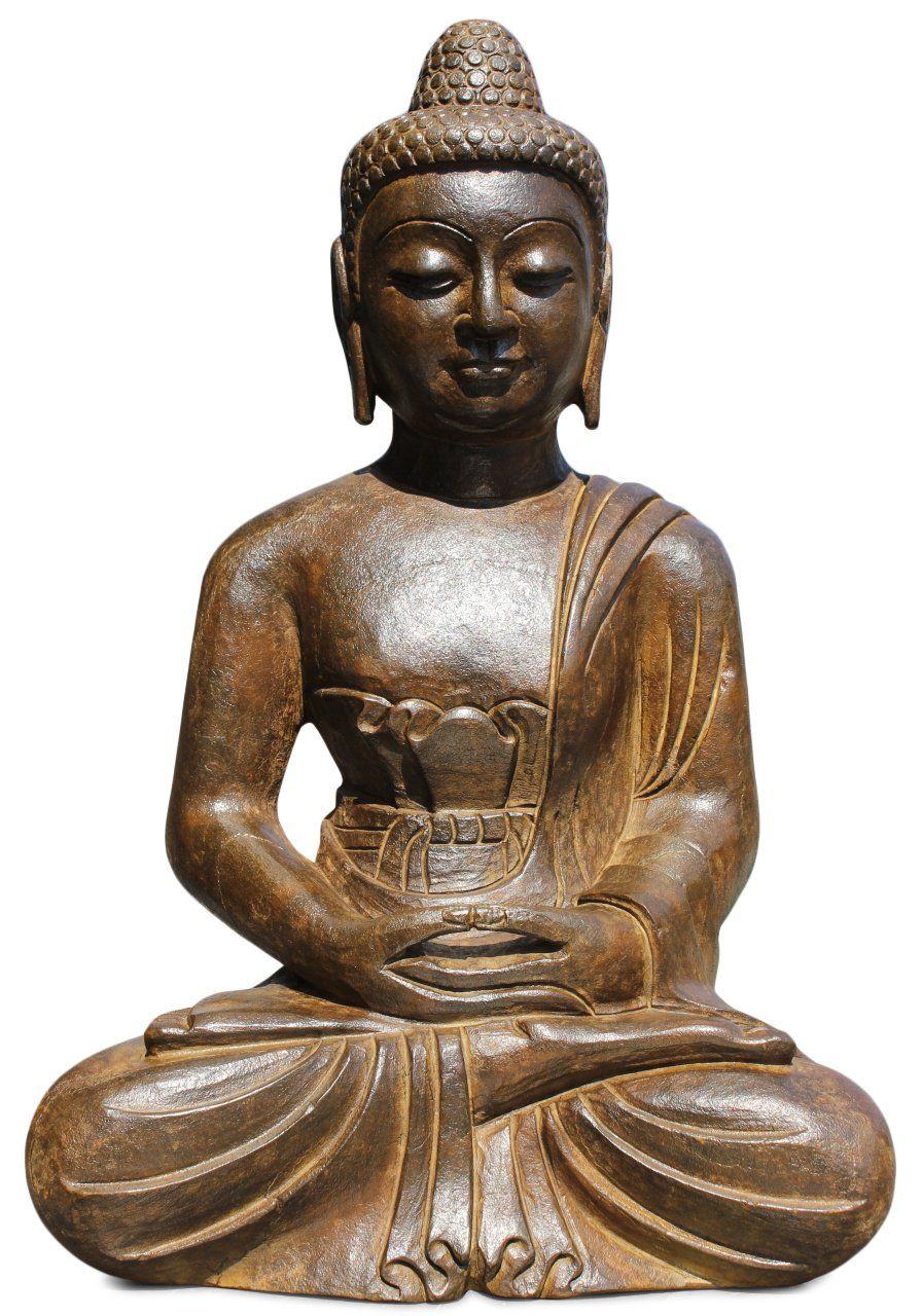 60 Cm Grosse Buddha Figur Aus Naturstein Fur Den Besonderen Garten Patinar