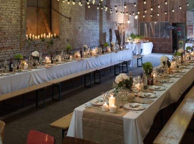 decoration table mariage guinguette