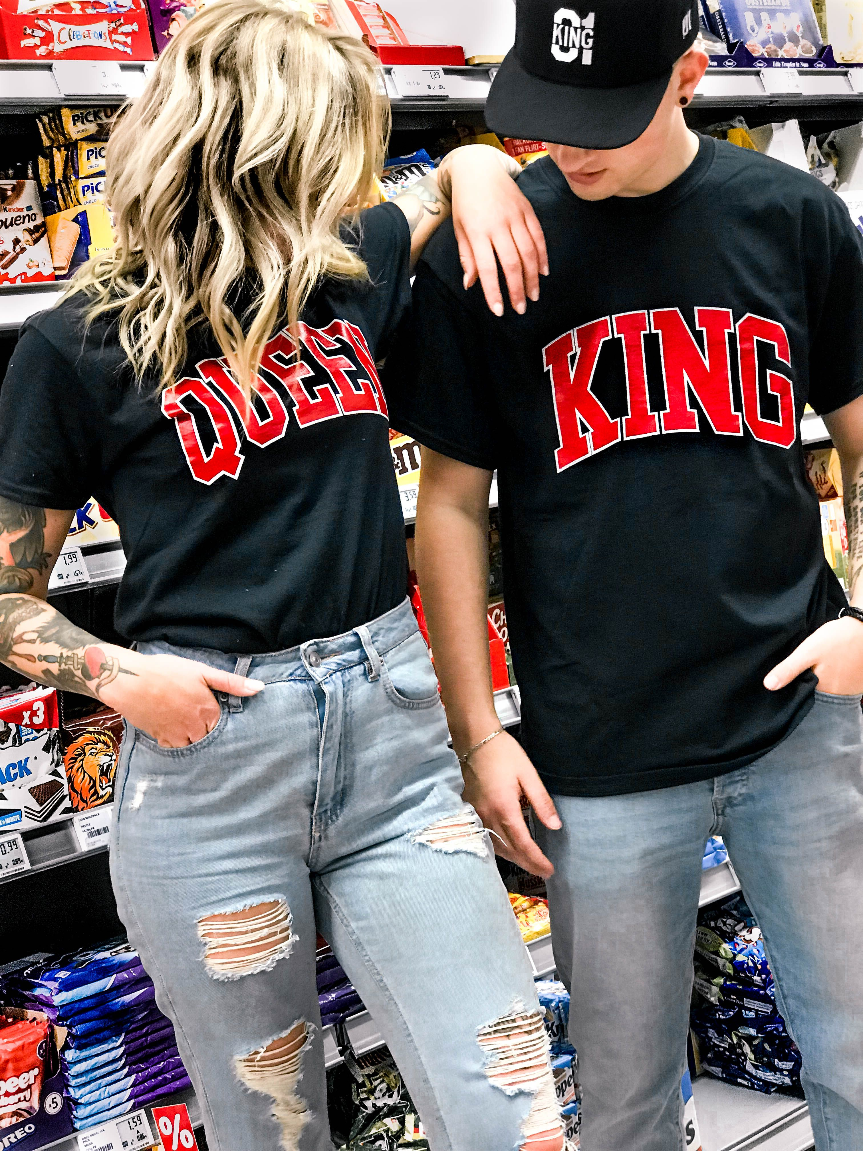 2b67dc104 couple goals, couple style, relationship goals, couplegoals, partner style,  partner fashion, king and Queen, partner T-shirts, love, relationship, king  und ...