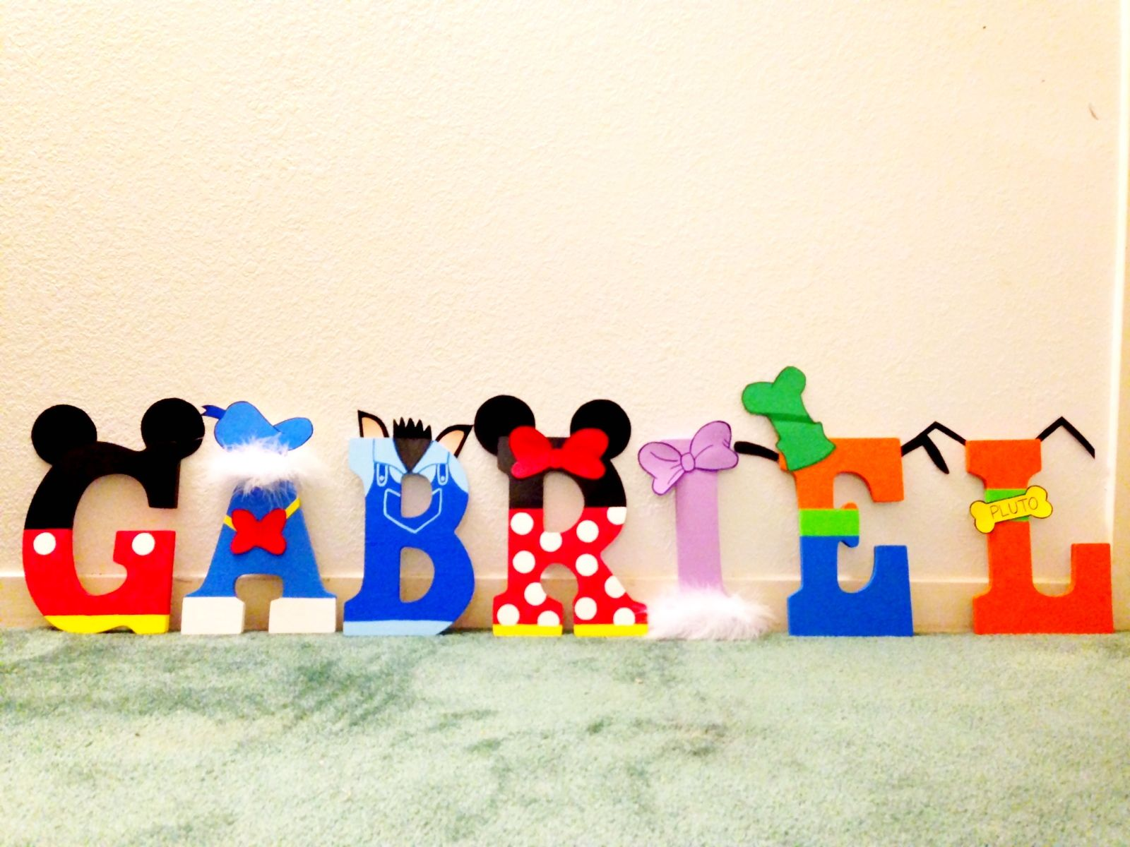 MIckey mouse clubhouse letters Kid birthday party Pinterest