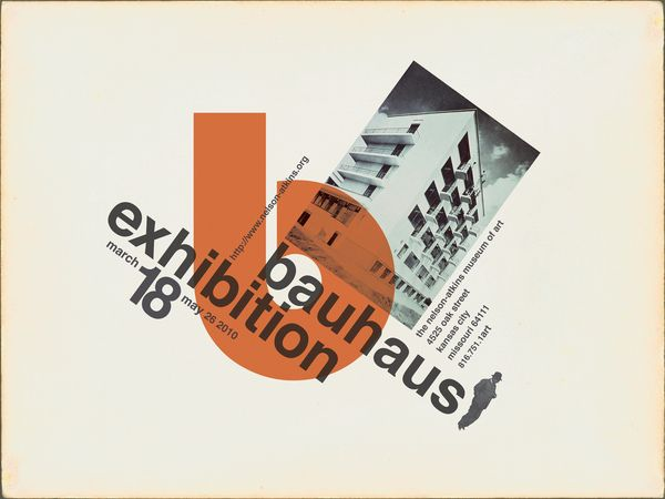 A poster created for a Bauhaus exhibit to be held at the Nelson-Atkins Museum of Art.  #poster #graphic_design #bauhaus