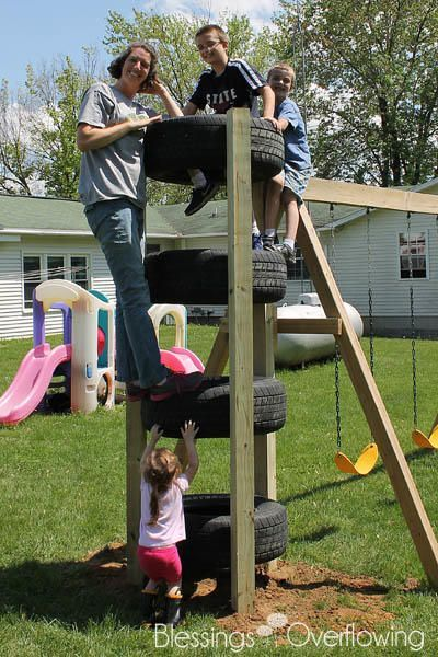 Photo of Simple ideas for reusing tires in play areas and backgrounds …