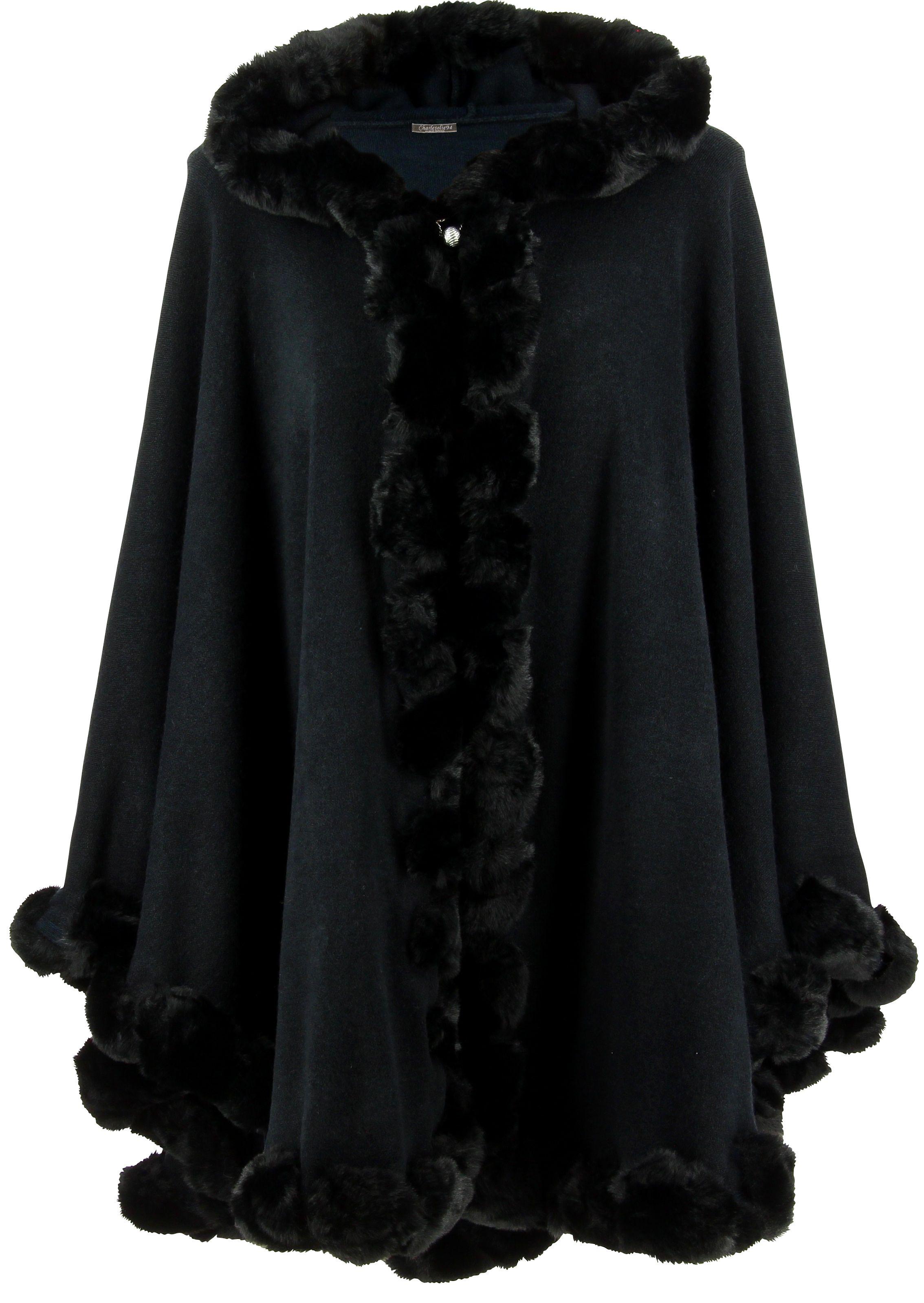 Découvre notre magnifique cape manteau poncho à capuche JULES, entièrement  bordée d une sublime 75df2541d79c
