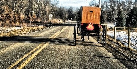 New Wilmington is the heart of Amish county in Western PA.