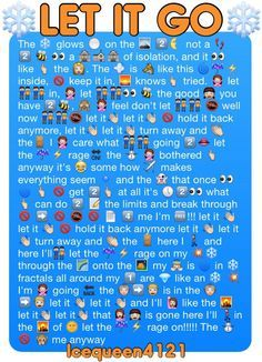 Let It Go In Emojis If You Didn T Sing This Whole Thing You Re Lying Funny Emoji Texts Funny Emoji Funny Texts