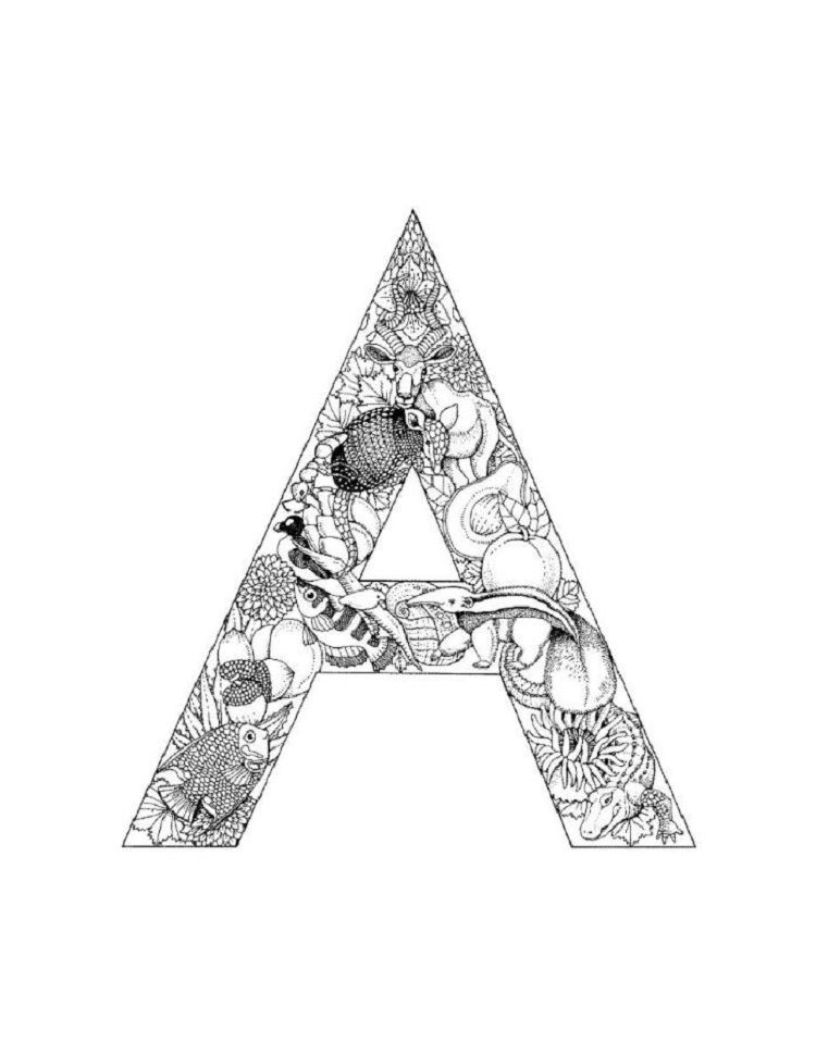Alphabet Coloring Pages A Alphabet Coloring Pages