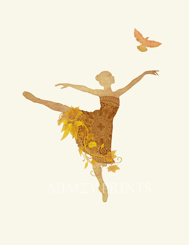 orange fall dance ballerina in vintage victorian lace dress