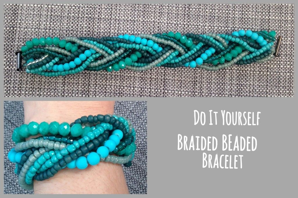 Very easy, very inexpensive. DIY Beaded Braided Bracelet!   Don't forget to check out runawayteacher.com while you are at it!