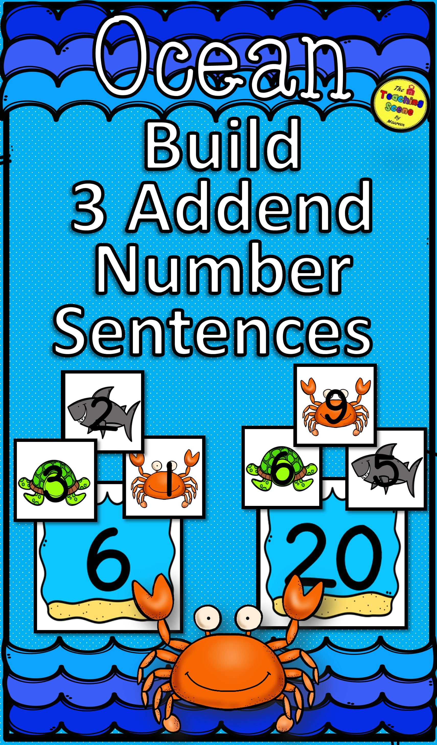 Ocean Build 3 Addend Addition Or Subtraction Number