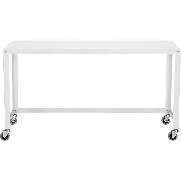 go-cart white rolling console table | console tables, consoles and