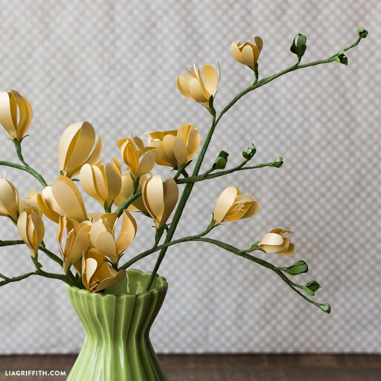 Freesia Paper Flower Lia Griffith Paper Flowers Giant Paper Flowers Paper Flower Tutorial