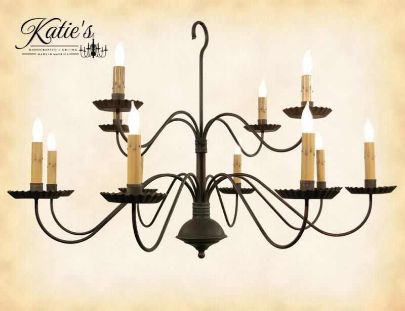 Katies monticello wrought iron chandelier country living primitives