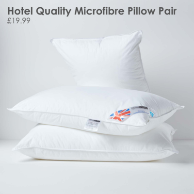 Luxury Hotel Quality Super Microfibre Pillow Pair In 2020