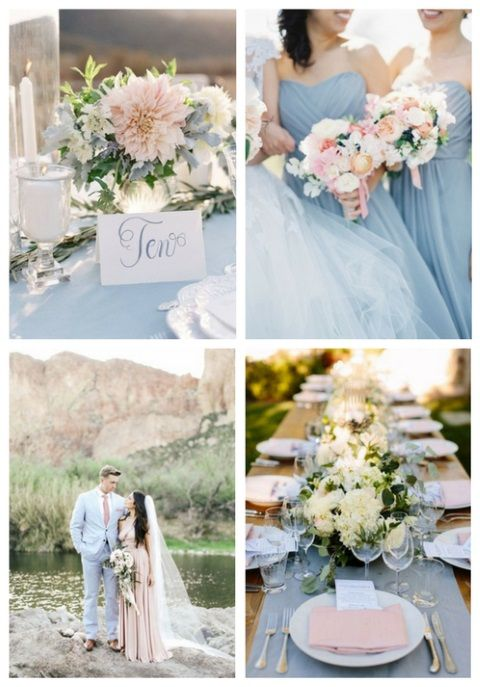 38 Dusty Blue And Blush Wedding Ideas | Wedding Ideas ...