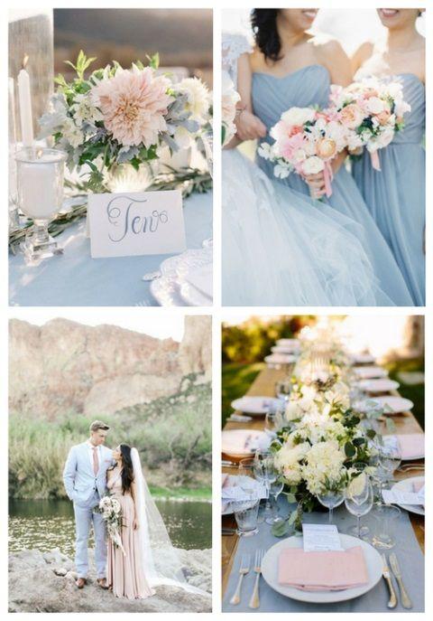 38 Dusty Blue And Blush Wedding Ideas