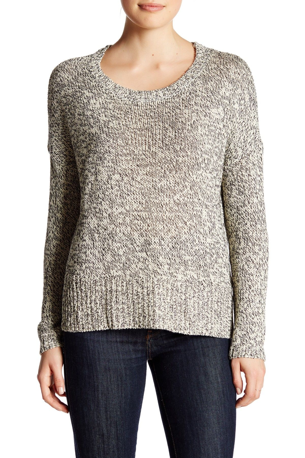 Long Sleeve Hi-Lo Hem Sweater