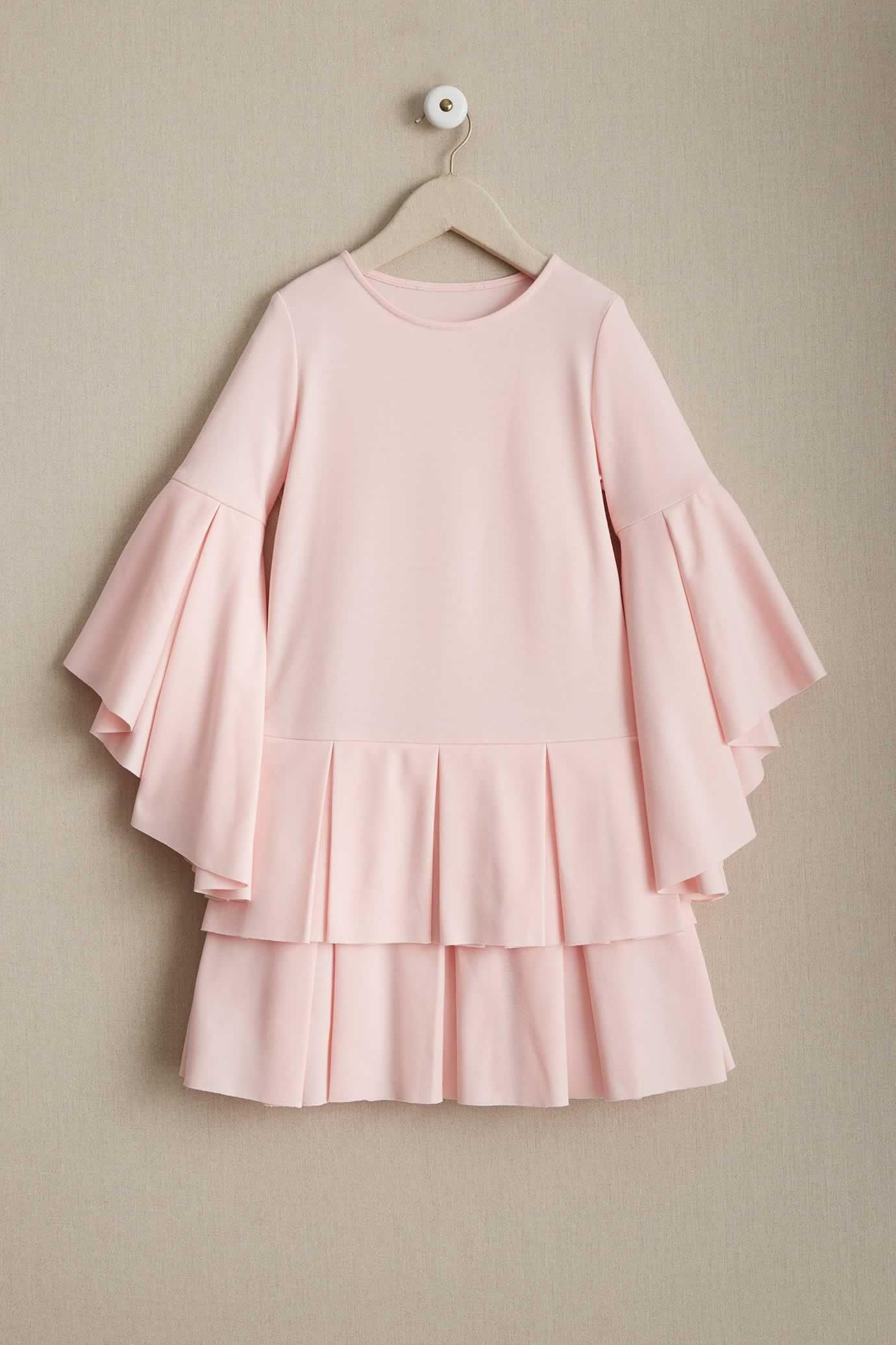 8fba9db2765 Girls Pastel Pleats Dress  I love these flutter sleeves!
