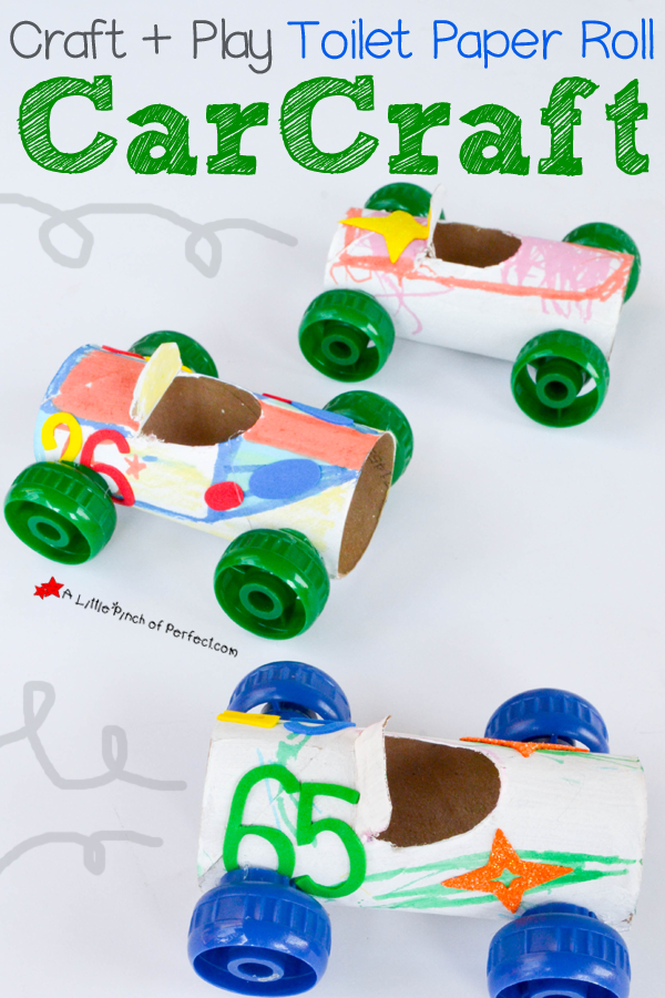 Craft And Play Toilet Paper Roll Car Craft Work Craft Ideas