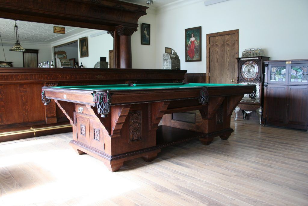 Brunswick Cabinet Marschaks Antique Pool Tables - Pool table cabinet