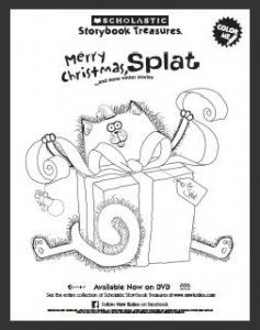 Scholastic: Merry Christmas Splat {Download A Coloring