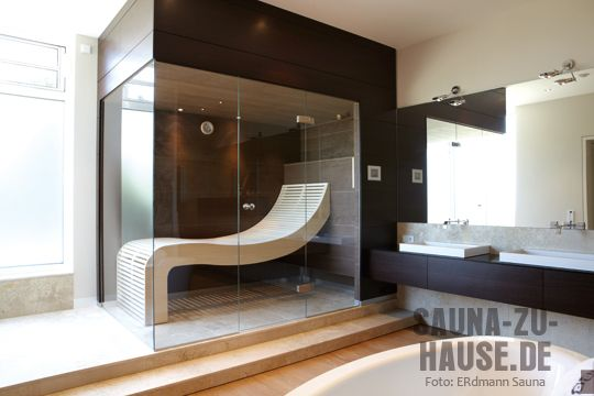 Erdmann-Sauna-gebogene-Lieg sauna Pinterest Saunas, Portable