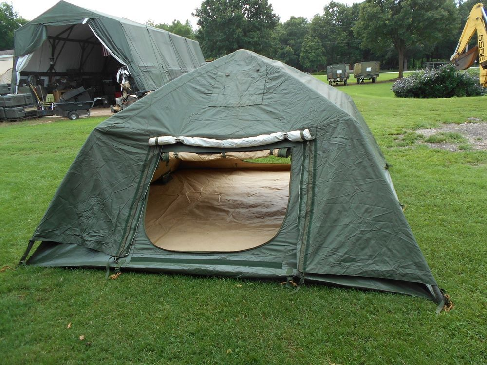MILITARY SURPLUS 10x10 SOLDIER CREW TENT ARMY FREE STANDING CAMPING HUNTING & MILITARY SURPLUS 10x10 SOLDIER CREW TENT ARMY FREE STANDING ...