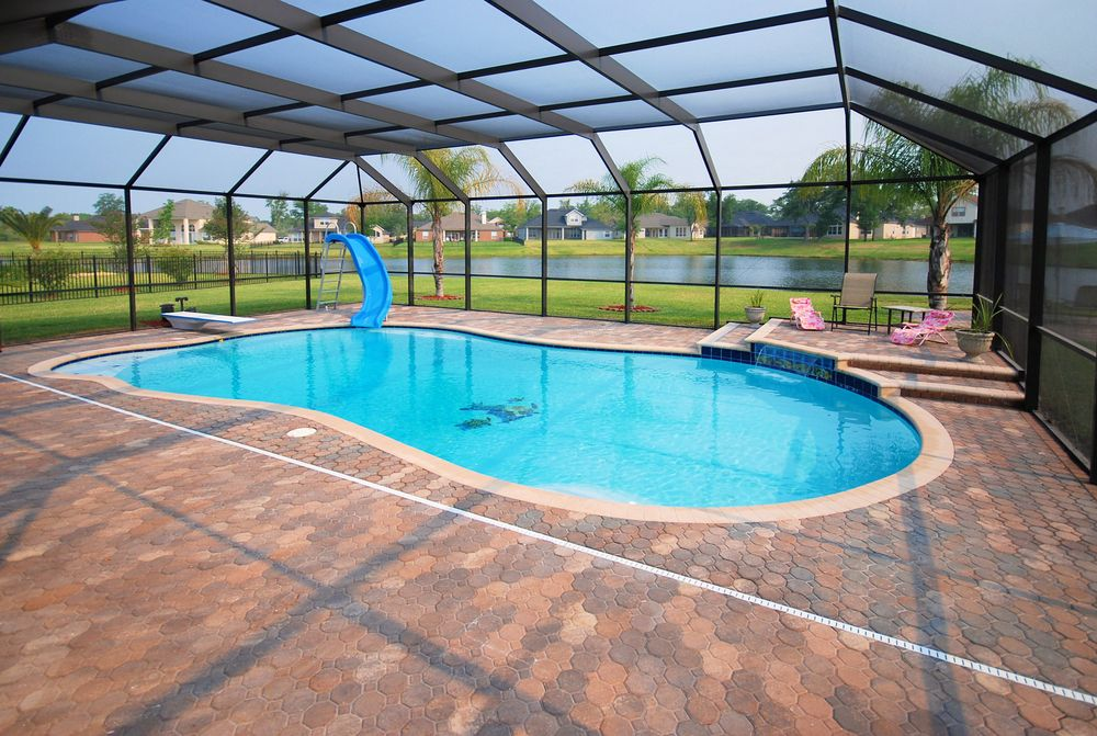 Love The Idea Of The Screen Covered Pool That Will Keep The Frogs