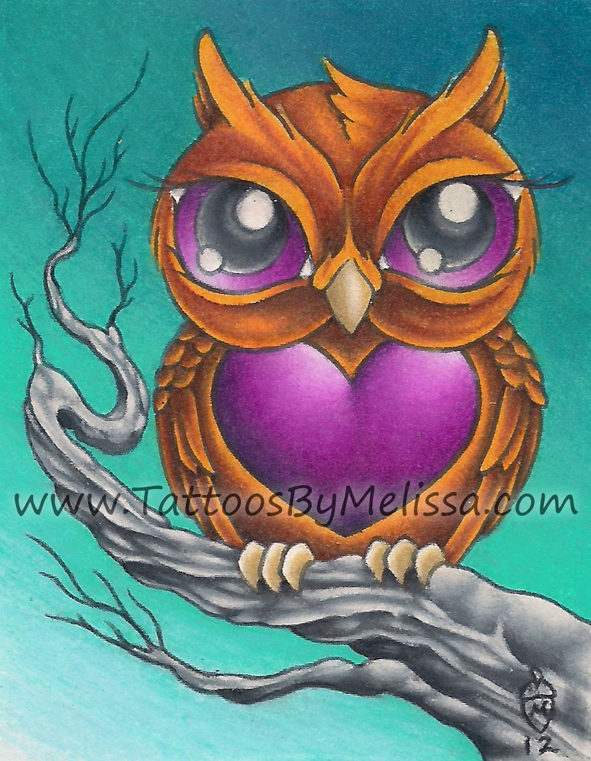 - Drawn Owlet Color - Pencil And In Color Drawn Owlet Color (With