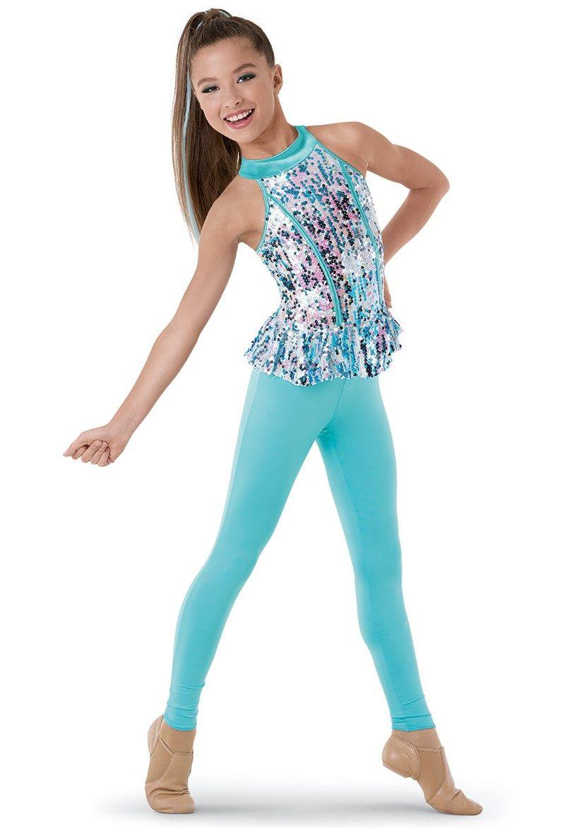a9ab8c175d3 Weissman™ | Sequin Peplum Tank & Leggings | Dance Costumes | Girls ...