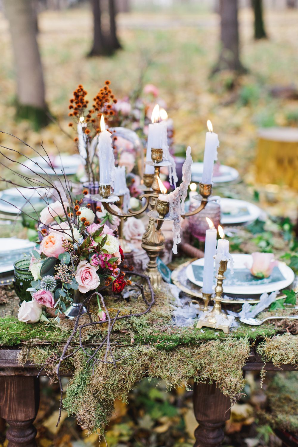 Enchanted Forest Fairytale Wedding In Shades Of Autumn Wedding