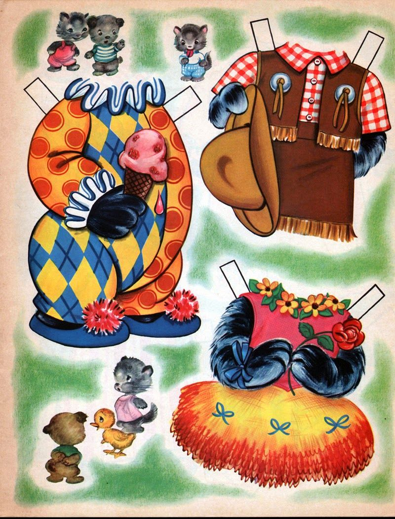 Kathleen Taylor S Dakota Dreams Thursday Tab Kit And Kapoodle Dress Up Animal Dolls Paper Dolls Vintage Paper Dolls Animal Dolls