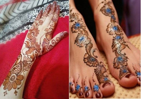 Mehndi Designs Punjabi : Punjabi bridal mehndi designs for hands feet