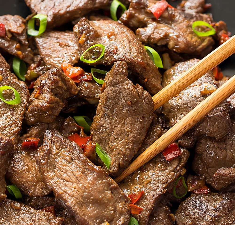 Spicy Hunan Beef Recipe Beef Spicy Beef Beef Recipes