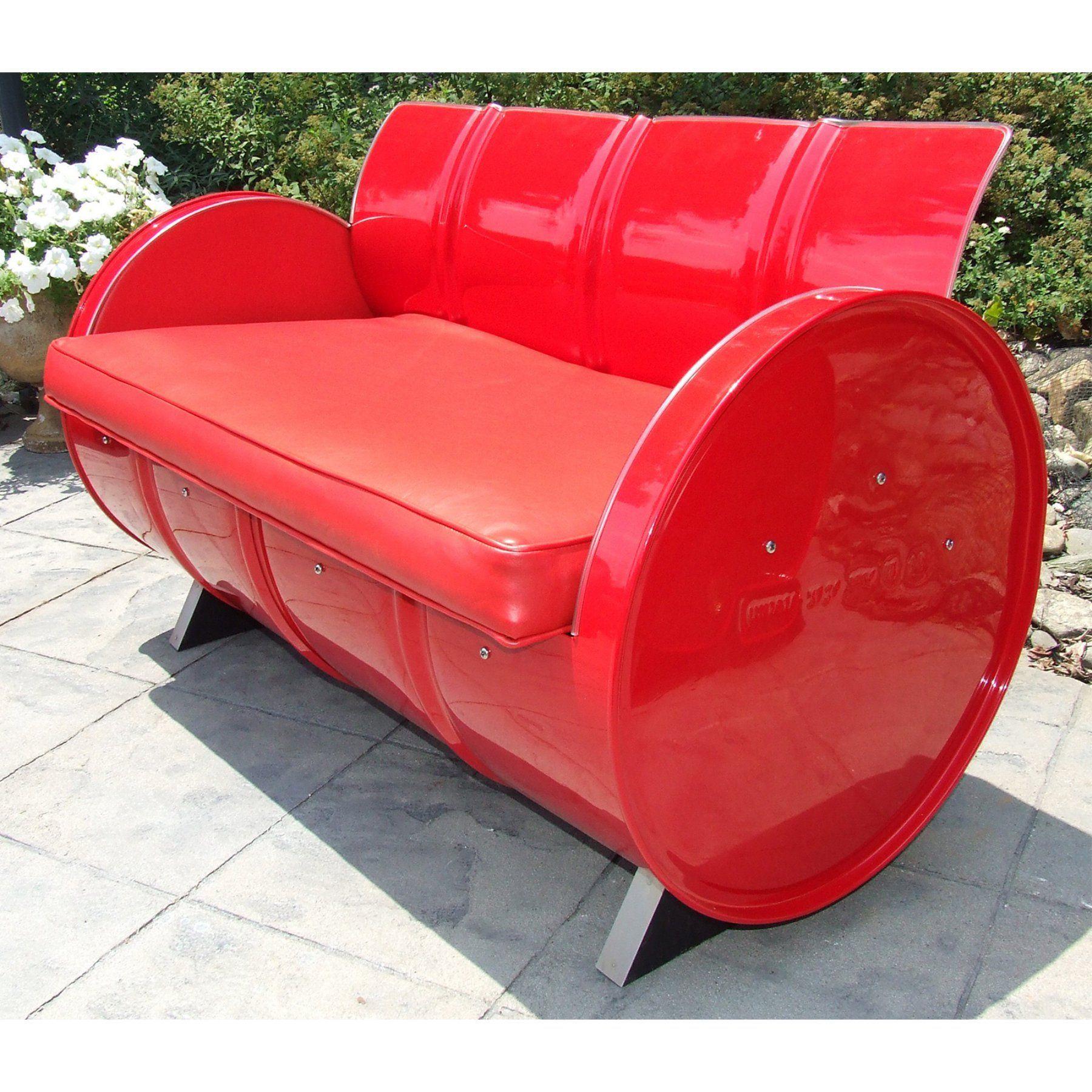 Outdoor Drum Works Furniture Very Red Loveseat - 5008