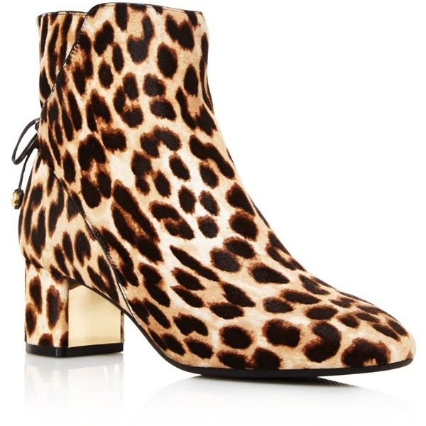 85ffd0076e07 Tory Burch Laila Leopard Print Calf Hair Booties ($480) ❤ liked on Polyvore  featuring shoes, boots, ankle booties, leopard, leopard boots, leopard  ankle ...