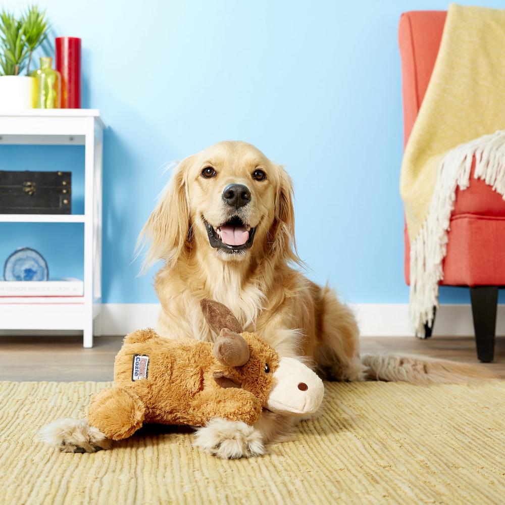 KONG Cozie Marvin Moose Plush Dog Toy, XLarge