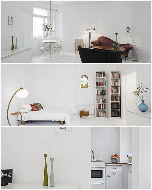 Decoracion departamento minimalista monoambiente todo en for Decoracion para departamentos minimalistas