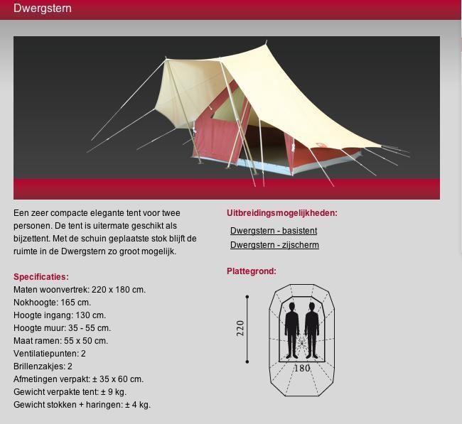 De Waard Dwergstern Kamperen, Tent, Caravan