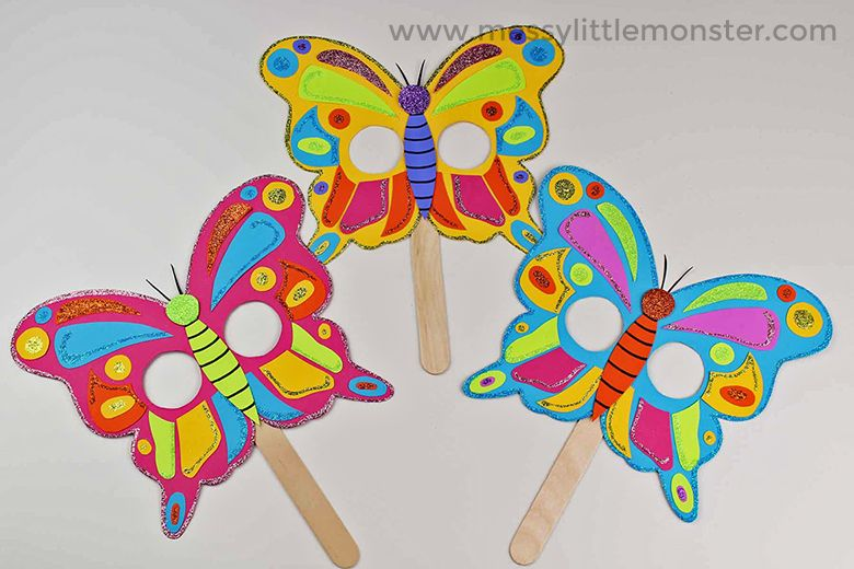 Butterfly Mask Craft With Free Printable Butterfly Template