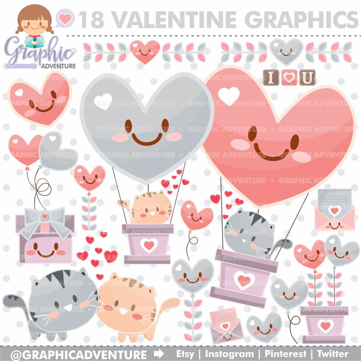 Valentine Clipart Valentine Graphics Commercial Use Love Clipart Valentines Day Clipart Valentine Cat Kawaii Clipart Valentine Clipart Valentines Day Drawing Valentines Day Clipart
