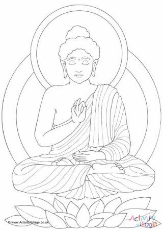 Buddha Coloring Page Mozaiekpatronen Boeddha En Kleurplaten